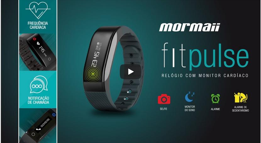 Você sempre conectado  O relógio Mormaii Fitpulse envia notificações de  chamadas, Facebook, Twitter e feed de notícias com temas personalizados. 649c4c42ad