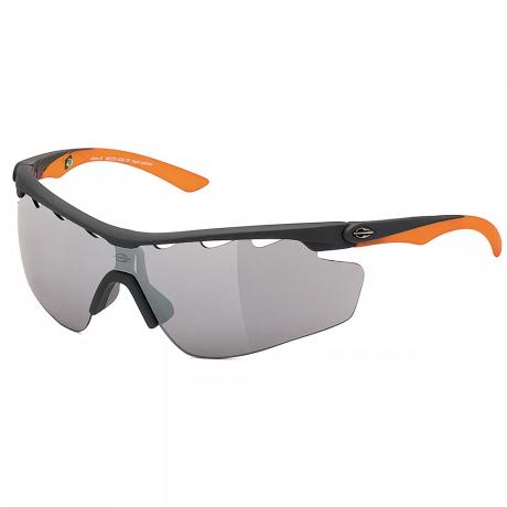 Óculos De Sol Mormaii Athlon 3 Prata Fosco Lente Cinza Espelhada M0005G0809