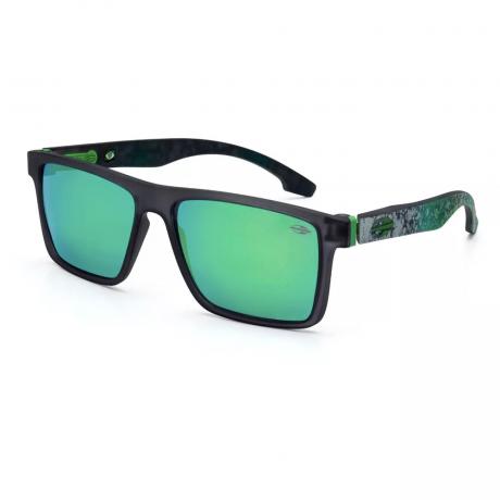 Óculos De Sol Mormaii Banks Fumê Escuro Marmorizado Lente Verde Espelhada M0050D8685