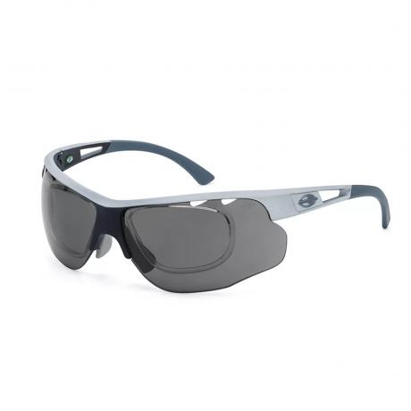 Óculos De Sol Mormaii Eagle Branco Fosco Lente Cinza Espelhado M0047B2309
