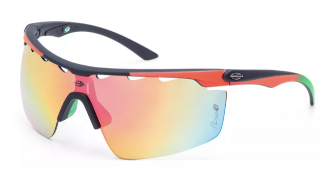 Óculos Athlon 4 Preto Emborrachado/Vermelho Degradê M0042AAB11