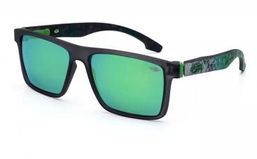 e515a957535fd Óculos De Sol Mormaii Banks Fumê Escuro Marmorizado Lente Verde Espelhada  M0050D8685
