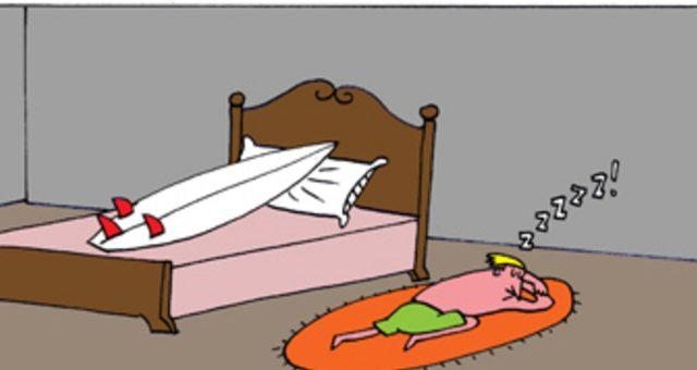 Surf tira | Dormindo no chão!