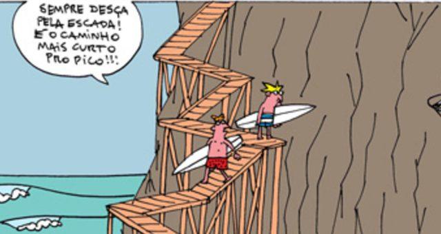 Surf tira | Sempre desça pela escada!