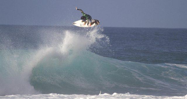 Alcides Lopes nas ondas do México