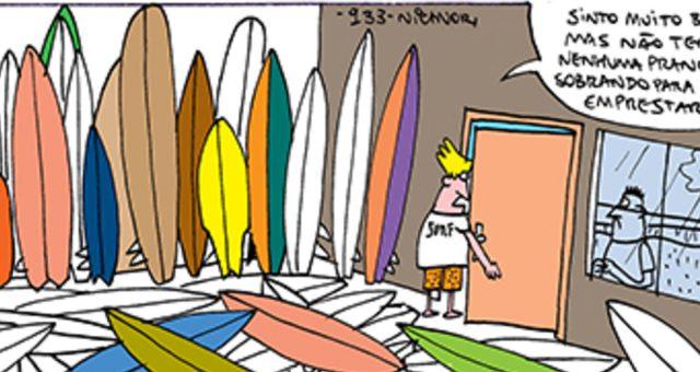 Surf tira | Empresta uma prancha?