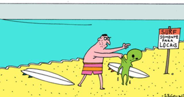 Surf tira | Haole espacial