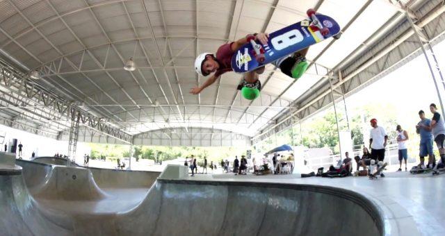 Gustavo Picaski na pista de skate de Sapiranga (RS)