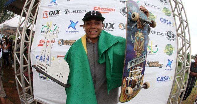 Xuxu é campeão Brasileiro de Street Skate Amador