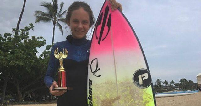 Belinha fica em terceiro em sua estreia no Hawaii