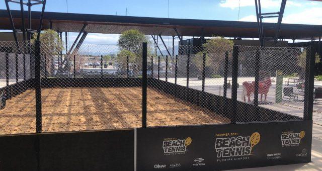 Quadra de Beach Tennis no Aeroporto de Floripa